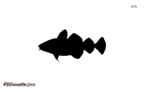 Cartoon Tuna Symbol Silhouette