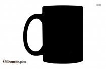 Black Coffee Cup Silhouette Image