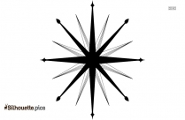 Compass Rose Silhouette, Free Vector Art