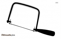 Black Coping Saw Silhouette Image