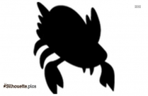 Cartoon Crab Silhouette Vector