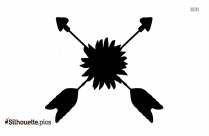 Crossed Arrows Symbol Silhouette