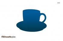 Black Cup And Saucer Silhouette Image