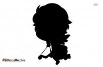 Black Cupid Silhouette Image