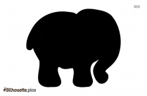 Baby Elephant Silhouette Background Image