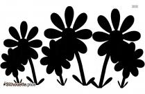 Hawaiian Tribal Flower Drawing Silhouette Clip Art