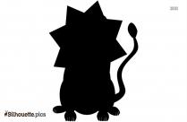 Black Cute Lion Silhouette Image