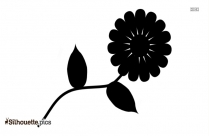 Cartoon Flower Silhouette Drawing