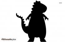 Black Dinossauro Azul Silhouette Image