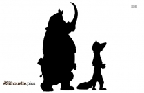 Winnie The Pooh And Tigger Playing Baseball Silhouette