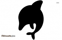 Cartoon Dolphins Silhouette, Clipart