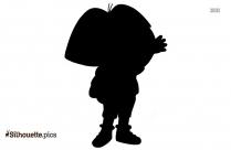 Black Dora The Explorer Baby Silhouette Image