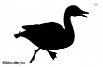 Black Duck Running Silhouette Image