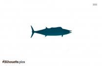 Wahoo Fish Silhouette Free Vector Art