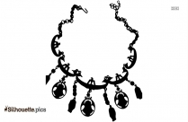 Ancient Necklaces Silhouette Vector And Graphics