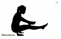 Yoga Pose Silhouette Illustration