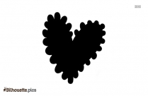 Roses And Love Heart Silhouette Free Vector Art