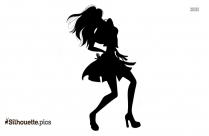Black Female Dancer Silhouette Image