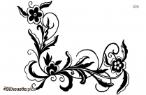 Black Floral Vector Silhouette Image