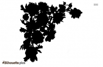 Black Flower Background Silhouette Image