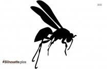 Black Flying Bee Silhouette Image