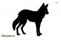 Black Fox Drawing Silhouette Image
