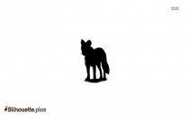 Wolf Head Silhouette Drawing