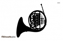 Black And White Trombone Silhouette