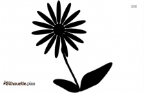 Fall Flower Silhouette Image And Vector Illustration