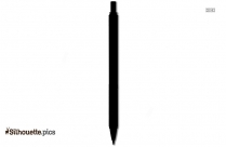Pencil Grip Silhouette Background