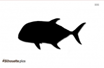 Giant Trevally Fish Clipart Image