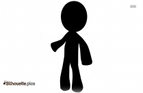 Black Gingerbread Man Silhouette, Vector