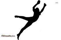 Black Goalkeeper Silhouette Image