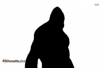 Monkey Hanging Silhouette Clipart