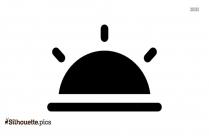 Half Sun Vector Silhouette Clipart