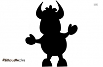 Cartoon Cow Silhouette Clipart