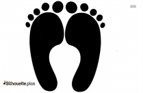 Baby Left Foot Clip Art Silhouette