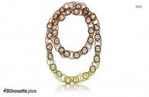 Hawaiian Necklaces Silhouette Illustration