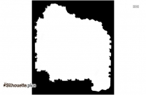 Black Holly Border Silhouette Image