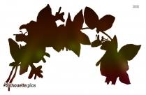 Black Honeysuckle Flower Silhouette Image