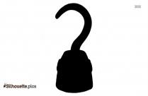 Black Hook Clip Art, Silhouette