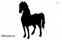 Black Horse Drawings Silhouette Image