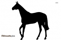 Walking Horse Silhouette Drawing