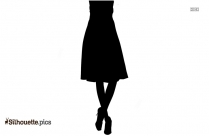 Black Indian Skirts Silhouette Image