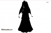 Black Japanese Dress Silhouette Image