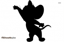 Jerry Mouse Silhouette Clip Art, Vector Art