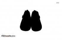 Male Feet Silhouette Illustration