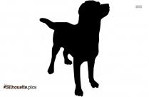 Cute Pitbull Silhouette Illustration