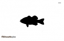 Largemouth Bass Fish Silhouette Image
