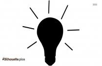 Black Light Bulb Vector Silhouette